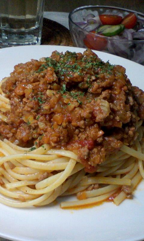 ボロネーゼ、を目指したスパゲッティ・ミートソース