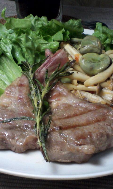 ダイエット競争第8日の夕ご飯、ラムチョップのグリル