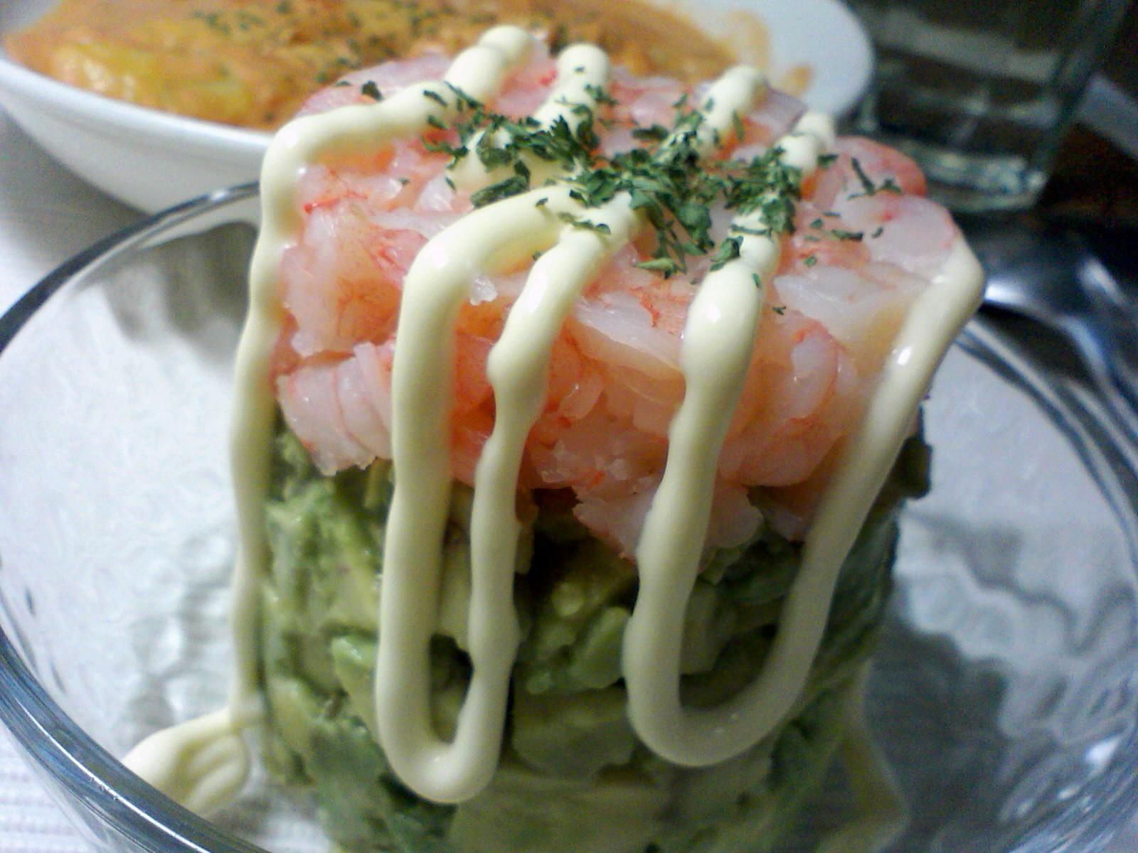 アボカドと小海老のサラダ