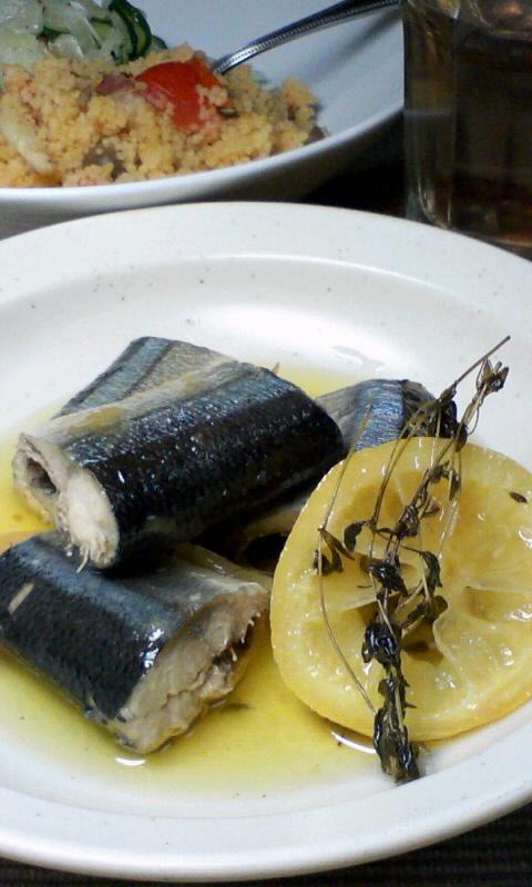 秋刀魚のオイル煮