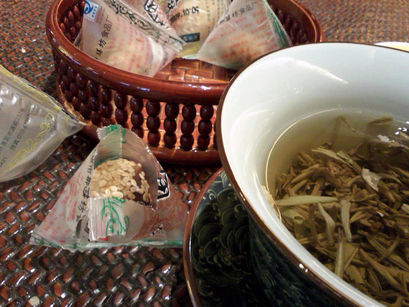 花茶と麻団