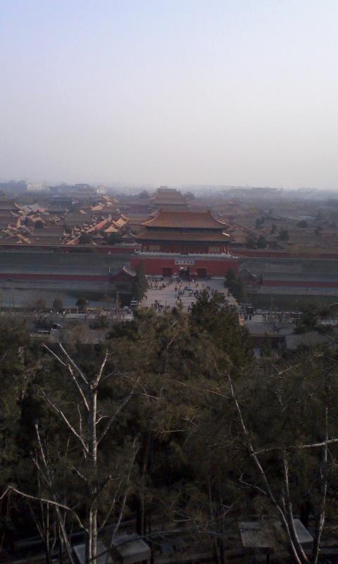 北京2010/03/13、景山公園から臨む