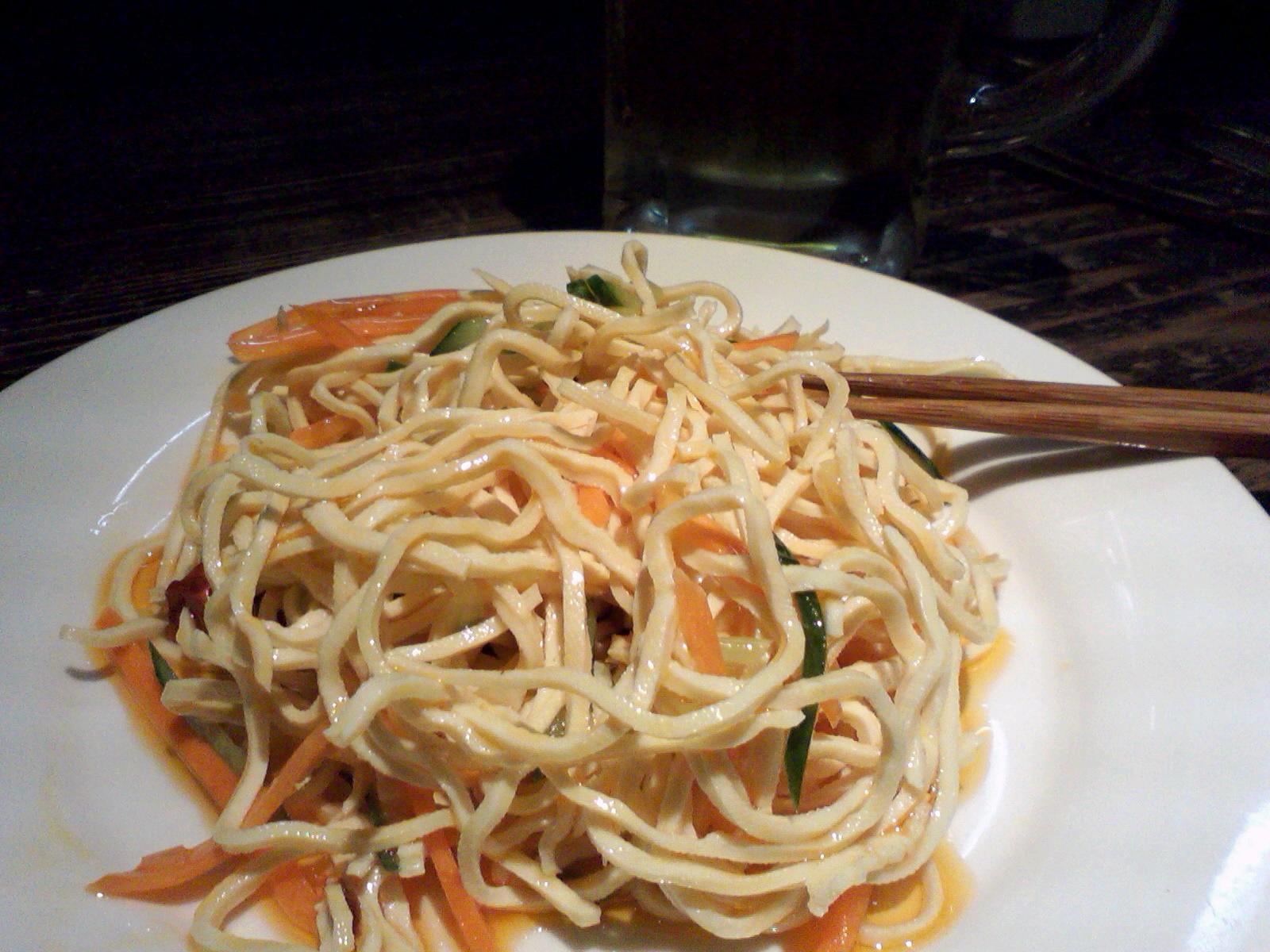 干豆腐絲のラー油和え