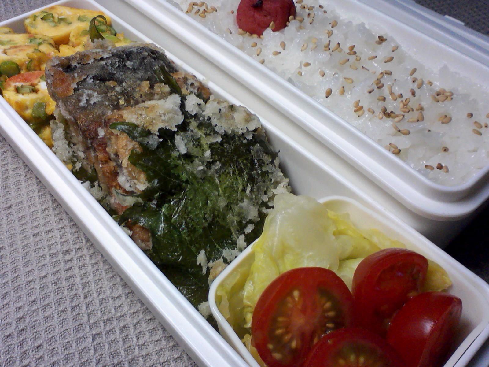 鯖の紫蘇竜田揚げ弁当
