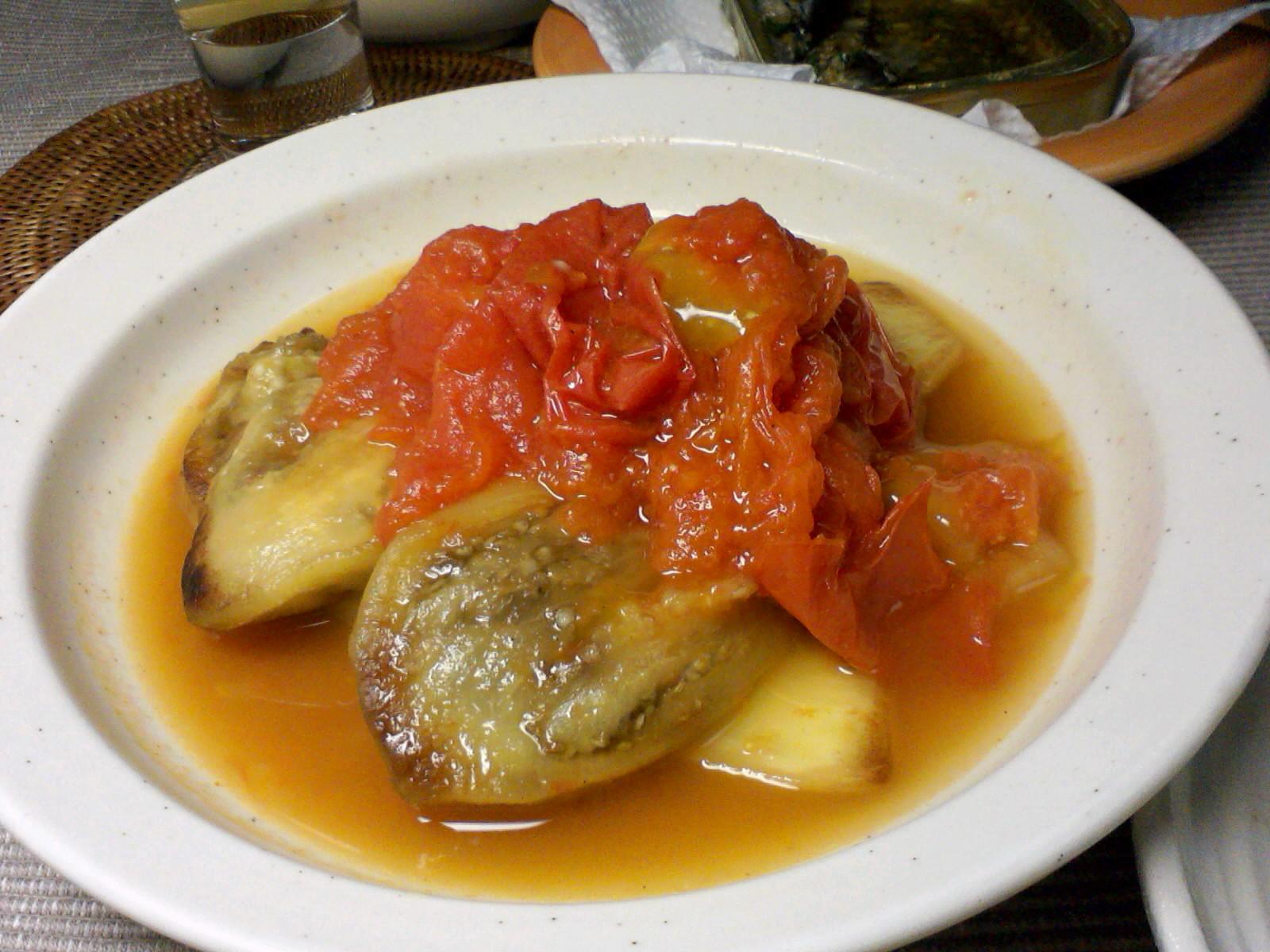 茄子とトマトの煮物