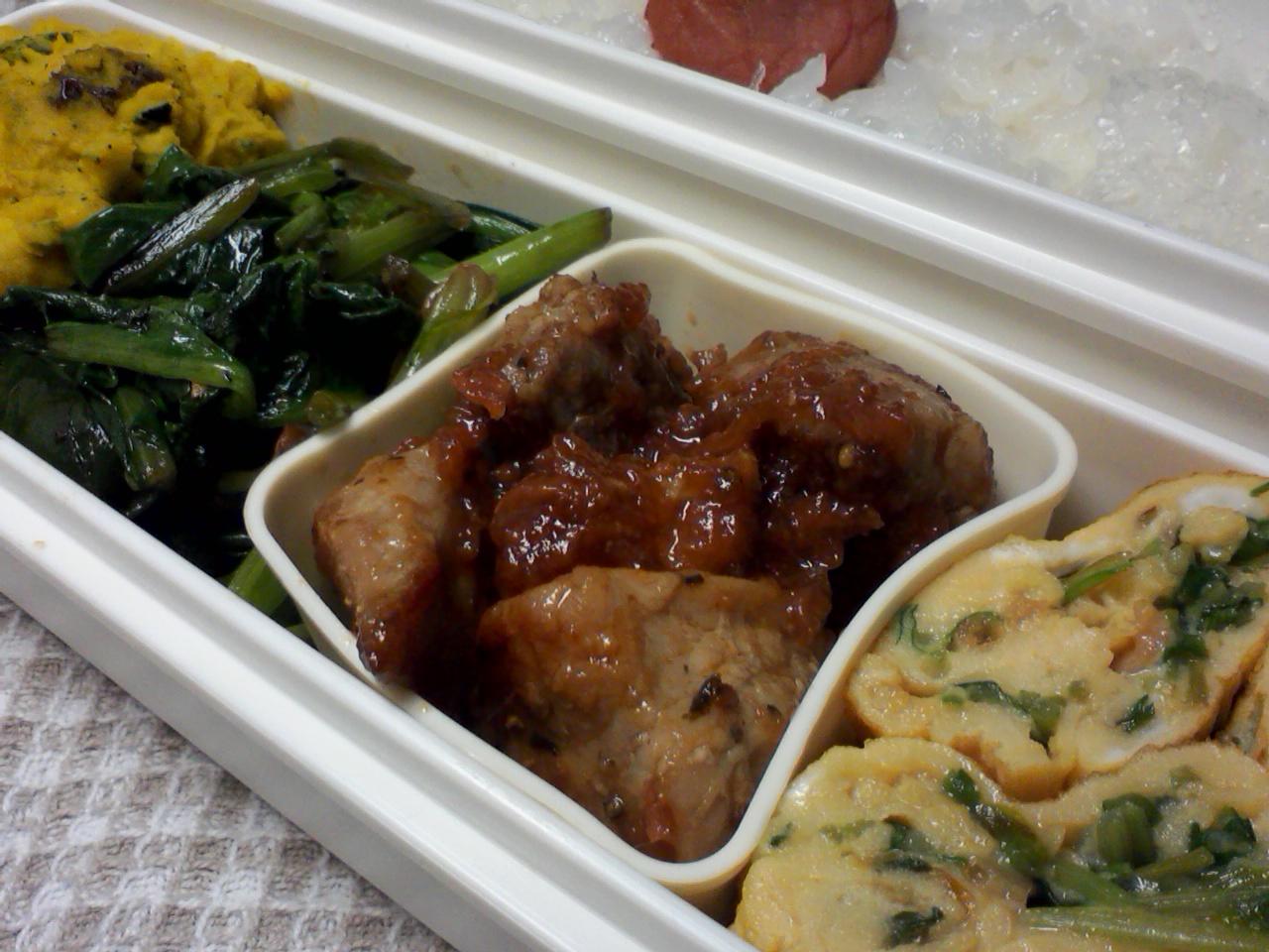 梅肉和え豚ソテー弁当